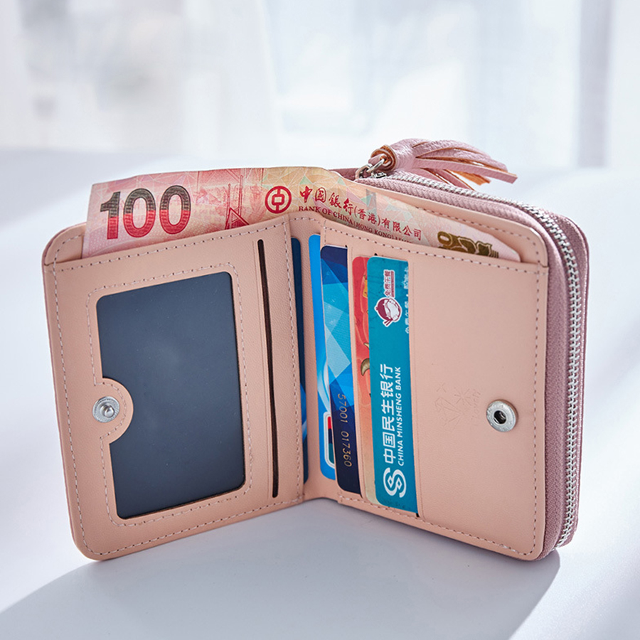 Hot Sale Fashion Short Tassel Kvinnor Plånböcker Lady Mini Card - Plånböcker - Foto 5