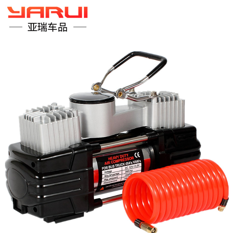 Car Mounted Inflatable Pump Dual Cylinder High Power 12V High Pressure German Portable Multi Functional Automobile