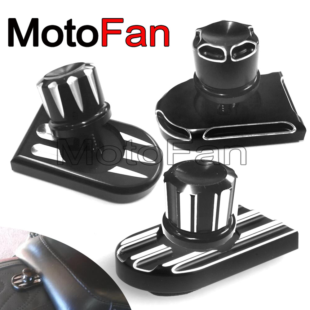 Motorcycle Rear Edge Cut Seat Bolt Tab Screw Mount Knob Cover Nut For Harley Touring Sportster Softail Fatboy Dyna 96-17 Fender for ktm 390 duke motorcycle leather pillon passenger rear seat black color