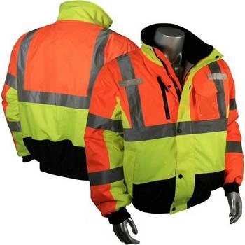 Chaqueta de bombardero impermeable de alta visibilidad con cremallera de Otoño/Invierno, ropa de trabajo de seguridad con parada de desgarro, ropa de trabajo reflectante, ropa de trabajo