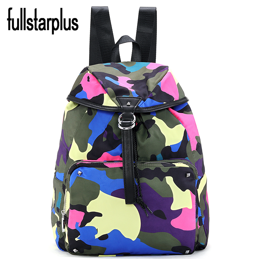 Printing Graffiti Backpack Imported nylon Bookbags School Bags for Teenage Girls Cute Laptop Backpacks Female Travel