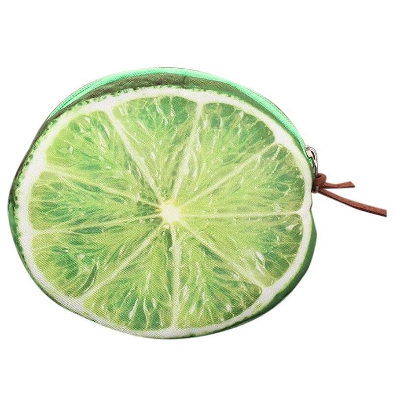 Creative Women Kids 3D Fruit Coins Card Holder Purse Zipper Pouch Bag Wallets lemon 140 page note paper creative fruit design