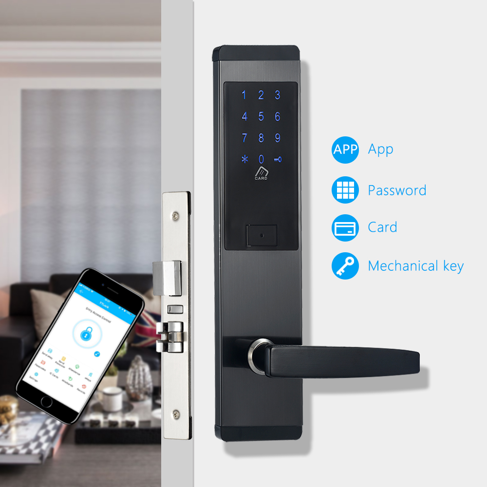 Security Electronic Door Lock App Wifi Smart Touch Screen