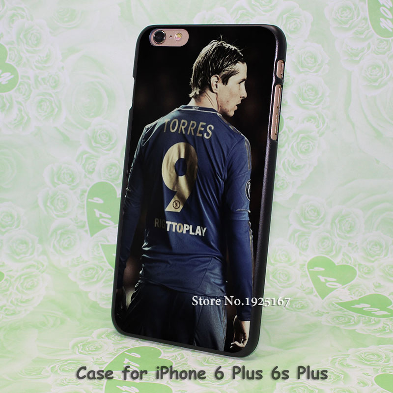 Fernando Torres No.9 dark handsome Pattern hard black Case Cover for iPhone 4 4s 5 5s 5c 6 6s 6 Plus 6s Plus