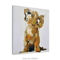Decorative wallpaper dog pop art modern abstract canva Oil painting to painting the living room wall painting wallpaper art