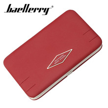 Baellerry PU Leather Women Hasp Long Wallet Metal Hasp Solid Wallet Coin Pocket Card Holder Note Compartment Porta Clutch Bag цена в Москве и Питере