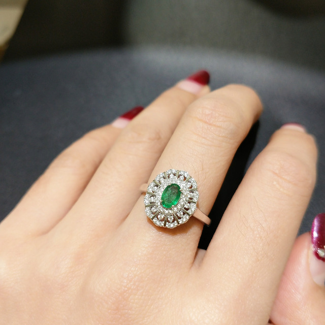 ring jewellery birthstone gold stacking emerald may rings emrald solid