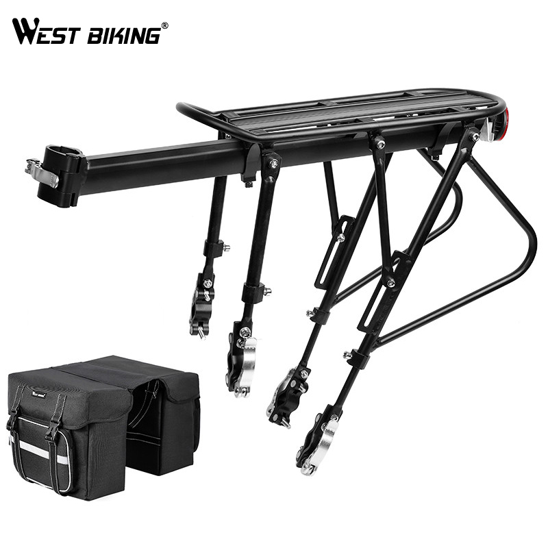 WEST BIKING Bike Rack Luggage Carrier Large Capacity Cargo Racks Seatpost Cycling Rear Bag Pannier Quick Release Bicycle Racks