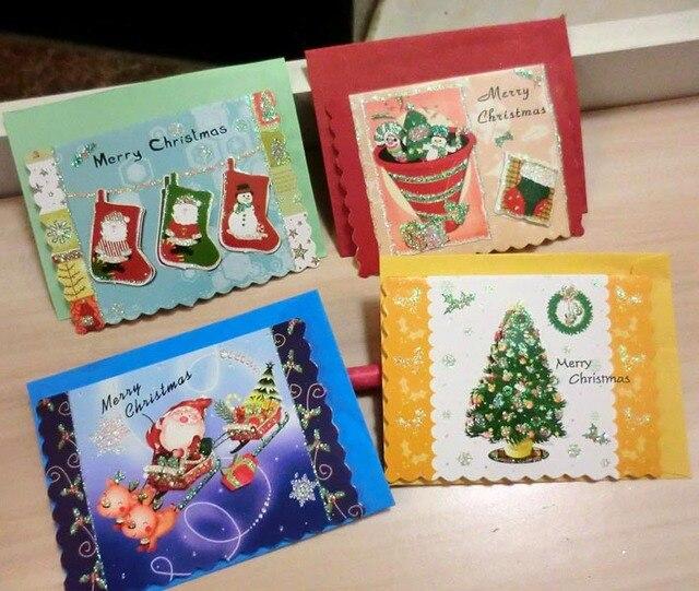 Business cards 120pcs greeting card xmas christmas 3d show new year business cards 120pcs greeting card xmas christmas 3d show new year best wishes shop gift hang m4hsunfo