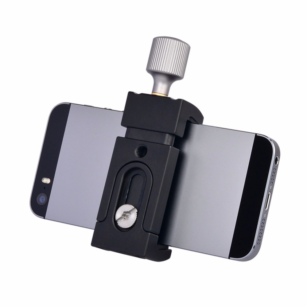 Micro &#8211; SLR Camera Desktop Aluminum Alloy Mini <font><b>Tripod</b></font> <font><b>Phone</b></font> Holder Clip Smartphone Bracket