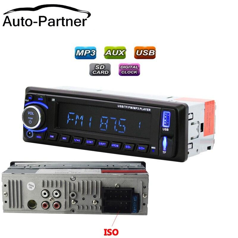 Auto radio 1din autoradio MP3 Player FM Ingresso Aux SD USB MP3 di Musica Radio Player bluetooth handsfree