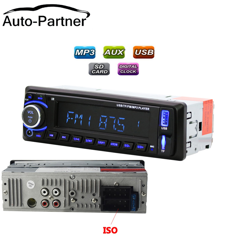 car radio 1din autoradio MP3 Player FM Aux Input SD USB Music MP3 Radio Player bluetooth handsfree