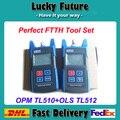 Fuente de Luz de fibra Óptica Medidor de Potencia TL510A/TL510C + TL512 Luz fuente de dispositivo mejor solución para red de fibra óptica