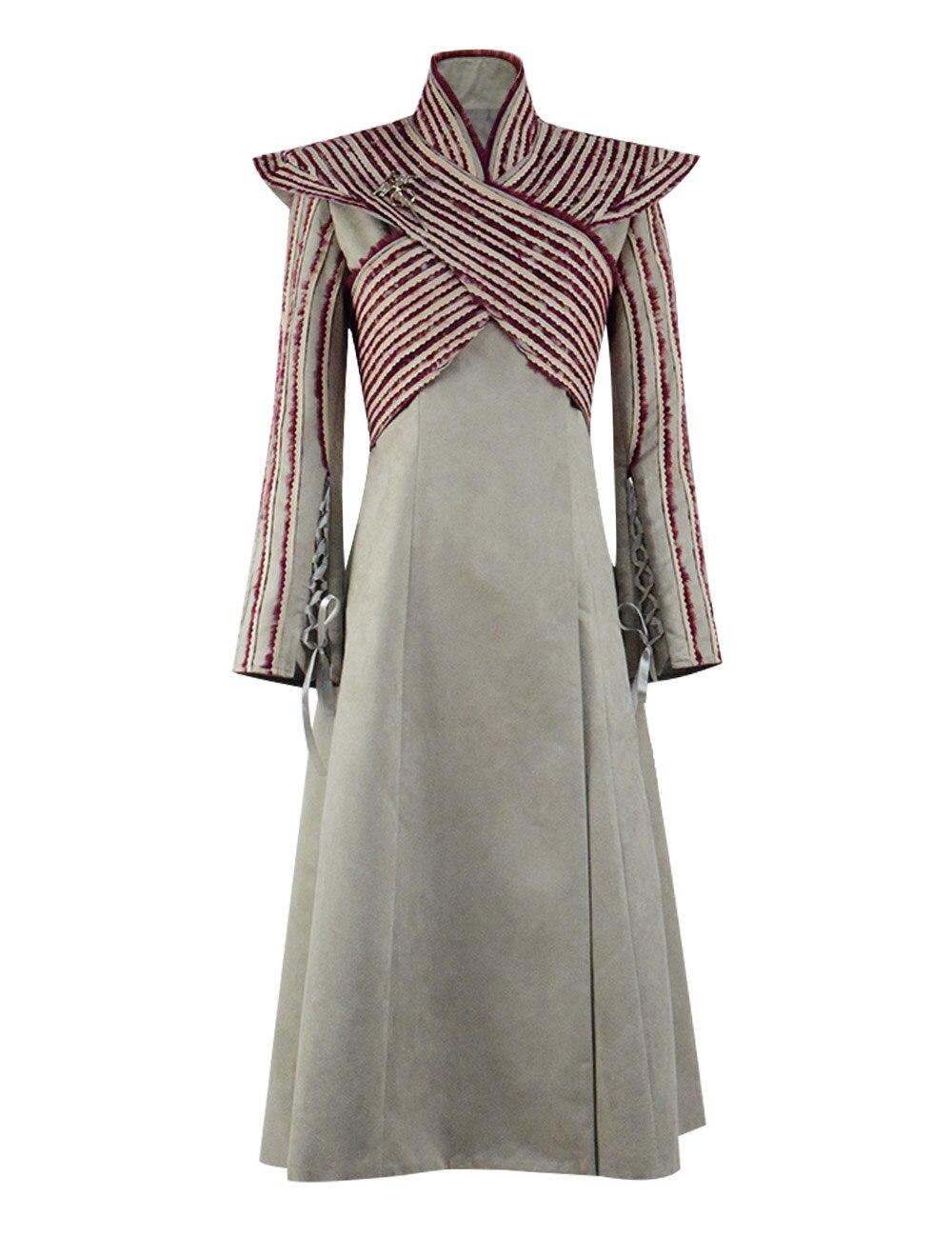 Daenerys Targaryen hiver Long manteau veste Cape reine Halloween Cosplay Costume