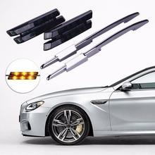 Фотография 2xCar-styling LED Fender Side Turn Signals Smoker Marker Light 12V For BMW E60 E90 E61 E81 E82 E87 E88 E91 E92 E93 M Accessories