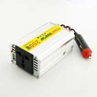 1pcs 200W Car Power Inverter Adapater Charger Transformer DC 12V to AC 110/220V w/USB