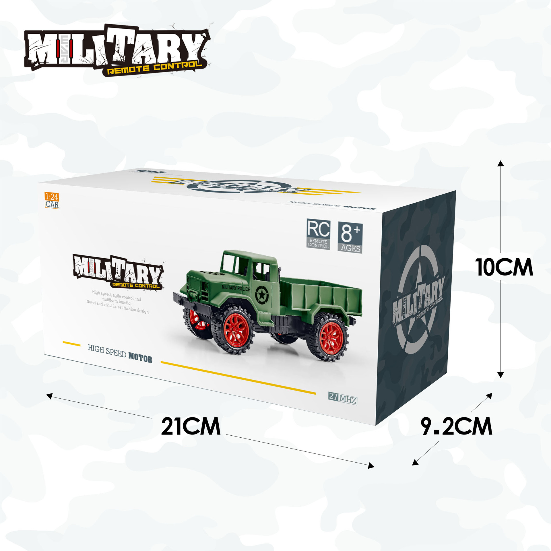 Image 4 - Ertong Remote Control Military Truck Four wheel Off road Military Truck Model Toys Children's Puzzle Gifts Hot selling Toys-in RC Cars from Toys & Hobbies
