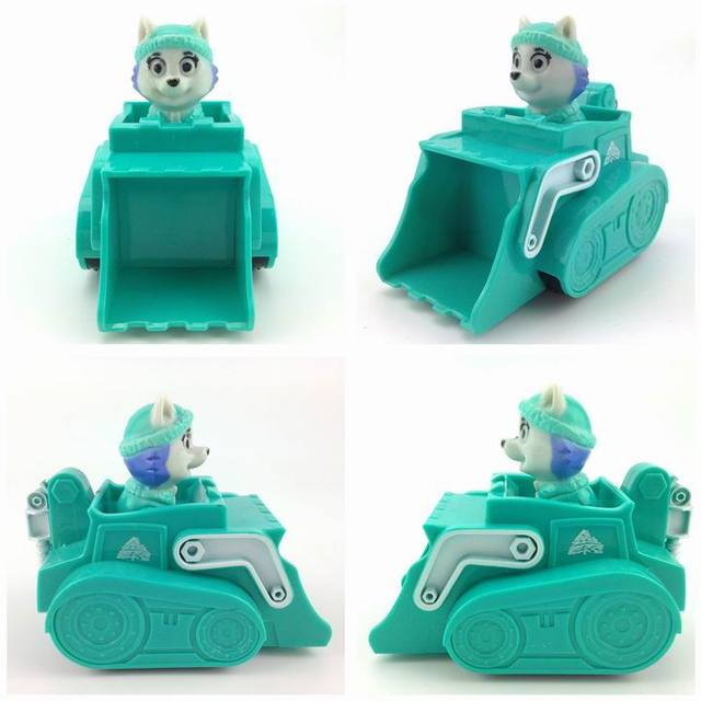 Russian Cartoon Canine Patrol Puppy Dog Toys Car Action Figures Model Kids Gift Patrulla Canina juguetes