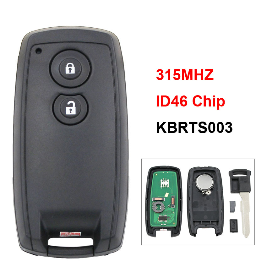 2 Button New Remote Car Key Smart Card Key Fob 315MHZ with ID46 Chip for Suzuki