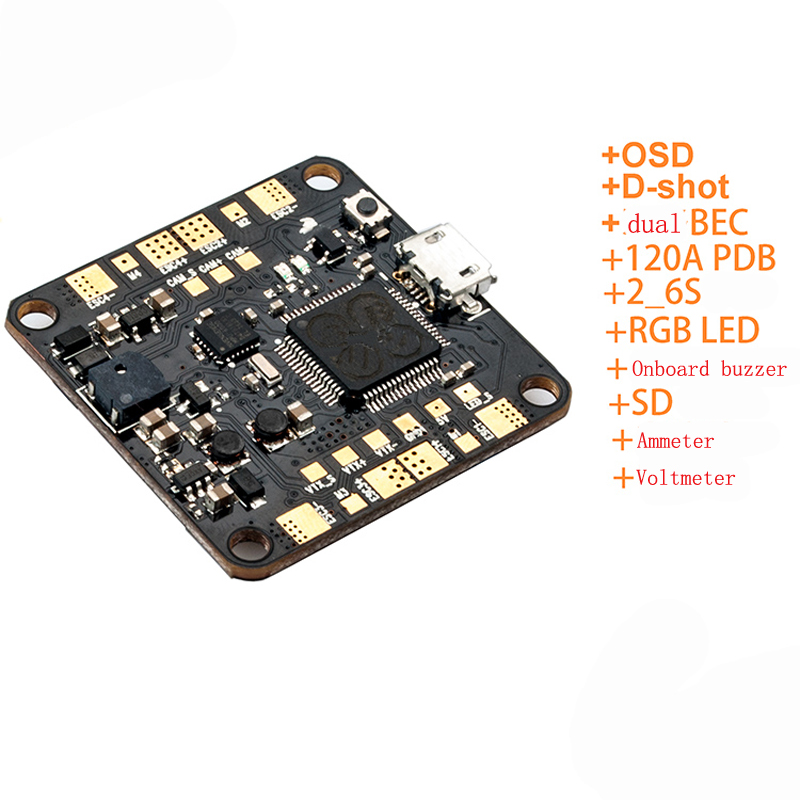 1PC Betaflight F4 FC F405 OSD Flight Controller Dual BEC 120A PDB RGB LED Flight Controll for RC Quadcopter Model Spare Parts free shipping flight controll gyro 3d avcs for fixed fpv half set for eagle a3 super ii k5bo