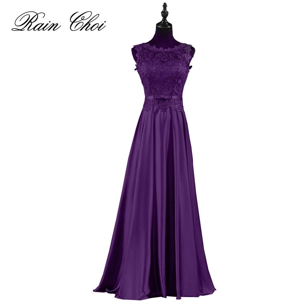 Vestido de festa Longo Encaje púrpura Vestidos de baile 2018 ...