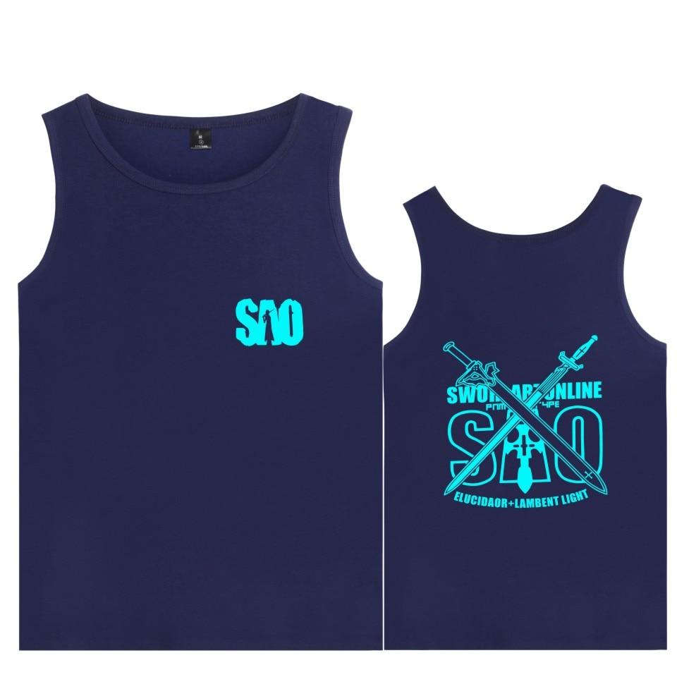 LUCKYFRIDAYF Sword Art Online Vest light novel Fashion Summer Sleeveless Shirt Soft Cotton Funny Plus Size 4XL Tank Top Fitness