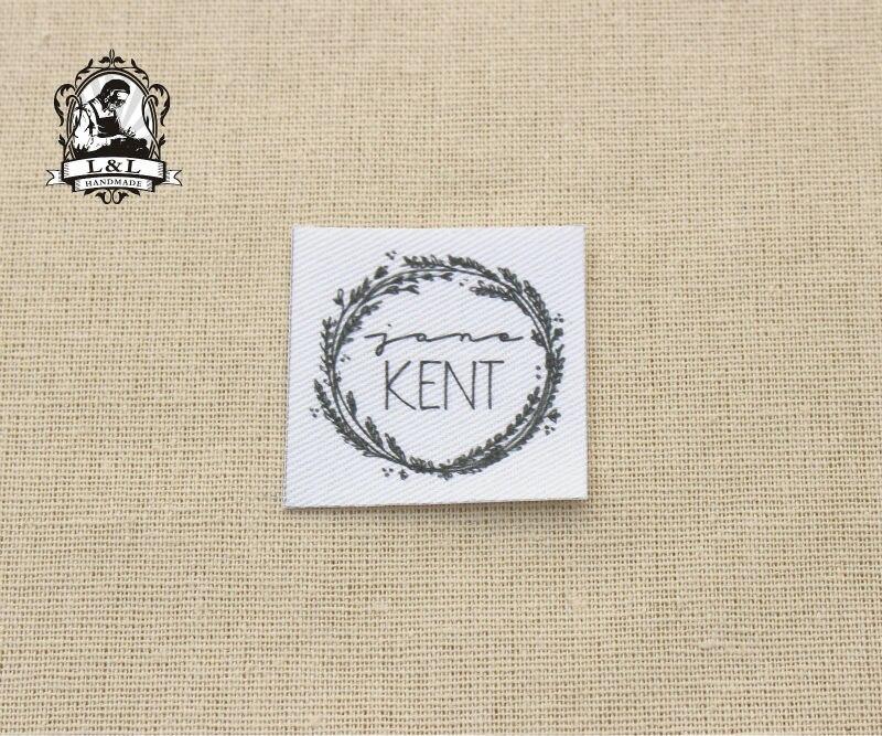 Растительные этикетки с венком Экологичные швейные этикетки, 100% органический хлопок, персонализированные|sewing tag|sewing label tagscotton tags | АлиЭкспресс