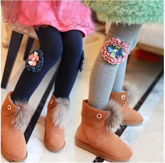 Hot selling 2016 Spring flower girl pants baby girl leggings kids cotton fashion legging children autumn pant girls' leggings