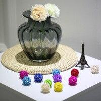 CASAMOTION Glass Vase Modern Design Hand Blown Jar Shaped Glass Vase Ribbed Design Vase for Home Decoration Room Decals