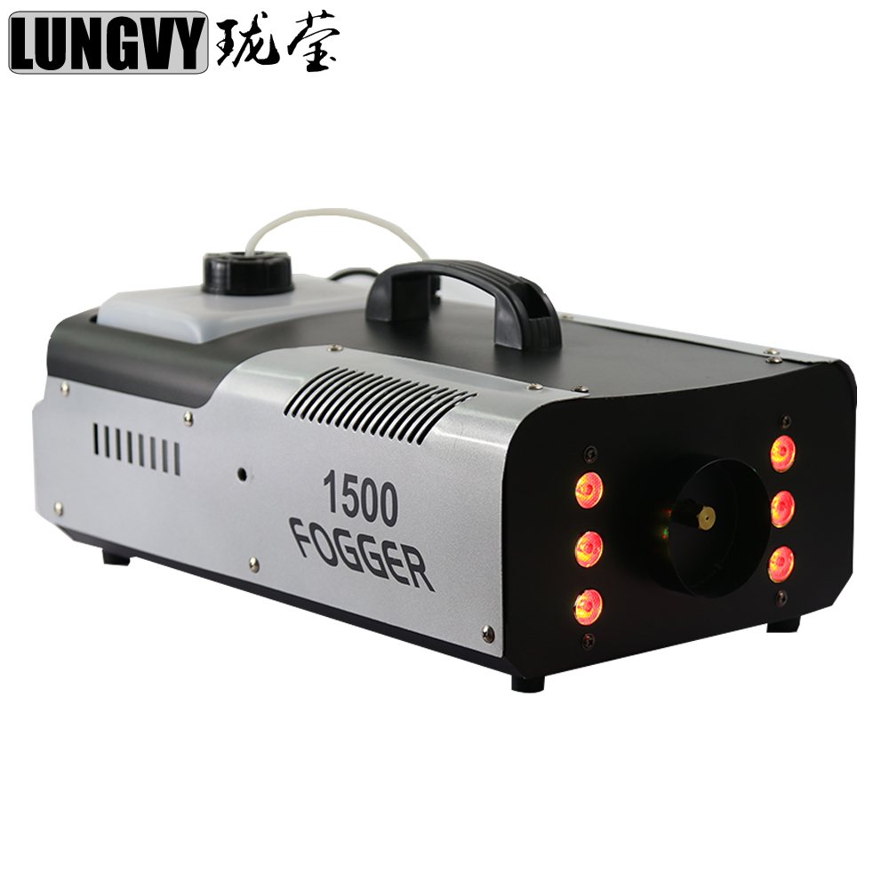 Free Shipping 1500w 6x3w RGB 3in1 LED Fogger Machine Smoke Machine DMX512 Stage Lighting Effect For DJ Disco
