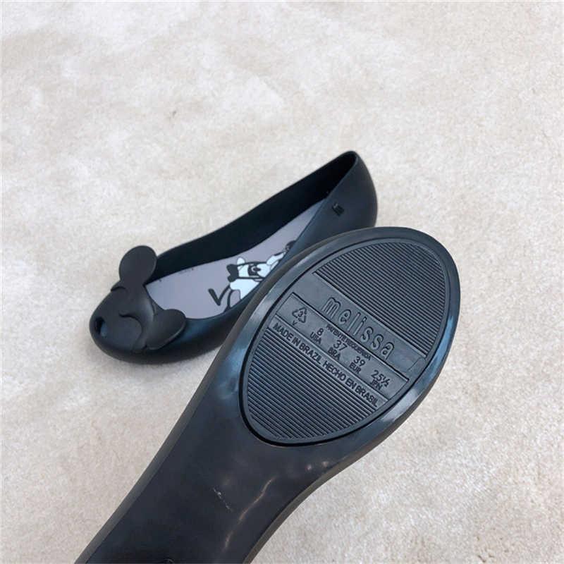 Chất Lượng cao Phụ Nữ Melissa Thạch Sandalias Minnie 2019 Cho Dép Phụ Nữ Phẳng Bãi Biển Mùa Hè Dép Cho Phụ Nữ Giày Melissa