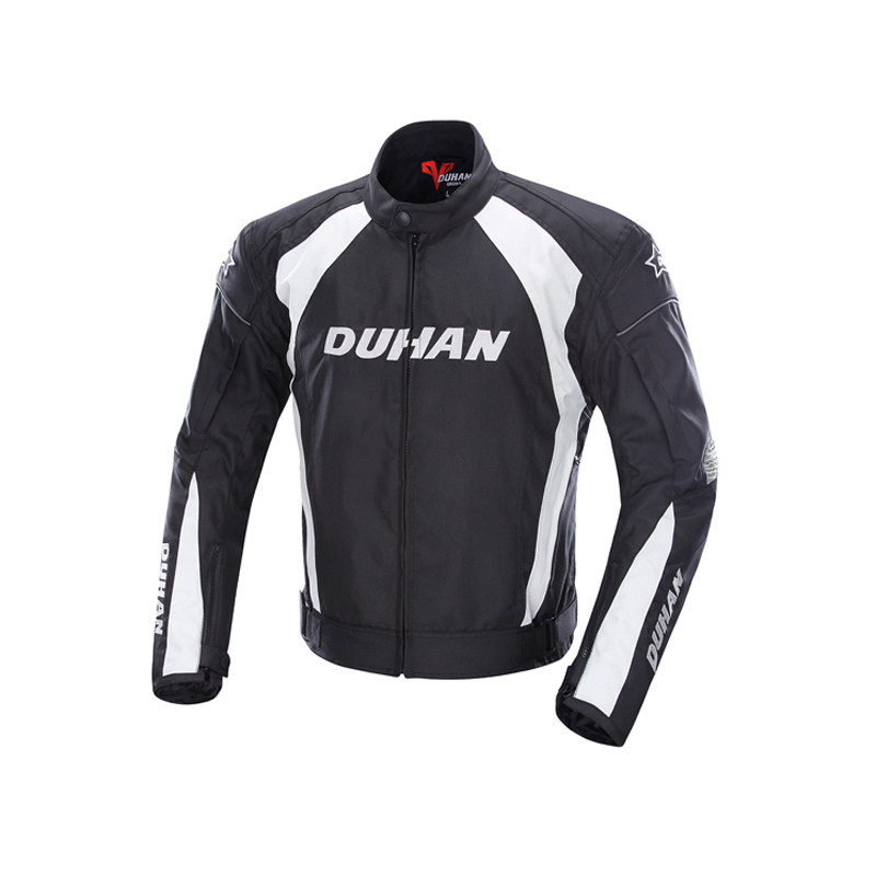 DUHAN Men's Motorcycle Jacket motorbike Windproof Riding Off-Road Racing Sports Jacket Clothing With Five Protector Guards
