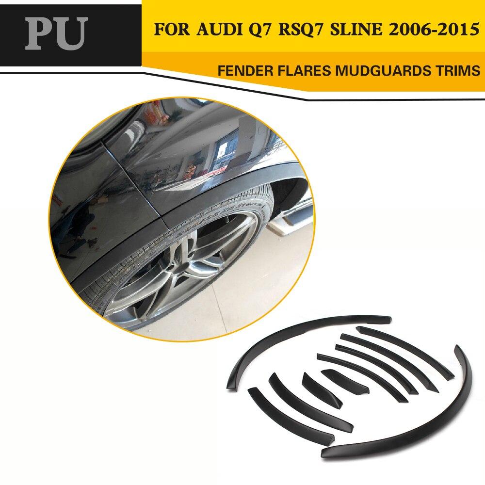 Накладки на колеса для Audi Q7 RSQ7 Sline 2006 2015, автомобильный стиль, полиуретановая колесная арка для бровей