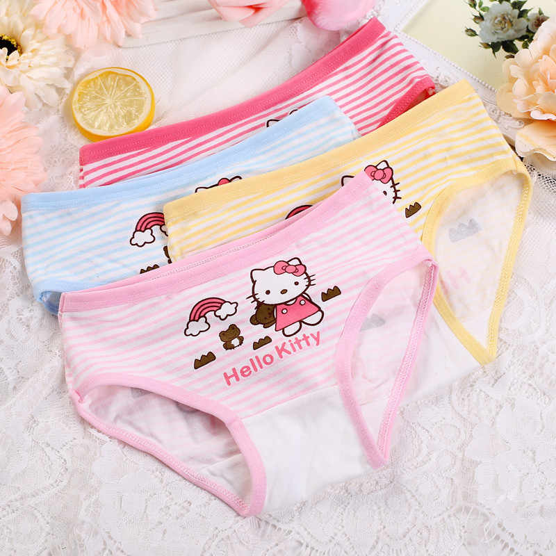 d8fa87106 ... 4PCS/lot New Underwear Children Cute hello kitty cartoon cotton baby  pants Sexy Lingerie Cute ...