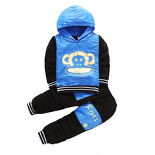 Baby Boy Clothes Set Winter 2 Piece Toddler Girls Clothing Sets Autumn Long Sleeve Hooded Kids Sport Suits Boys Set 2017 Fall