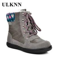 ULKNN/зимние детские сапоги; сапоги для девочек; детская теплая плюшевая подошва; зимние меховые сапоги; chaussure Patch; зимняя обувь; детские сапоги;...