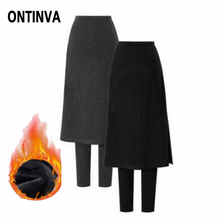 ONTINVA Warm Leggings Women Plus Size 5XL 2019 Autunm Winter Thick with Fleece Velvet