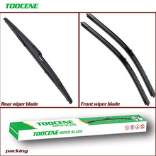цены на Front and Rear Wiper Blades For Ford Focus MK2 Hatchback  2005-2011 Windshield Windscreen wiper Auto Car Accessories 26