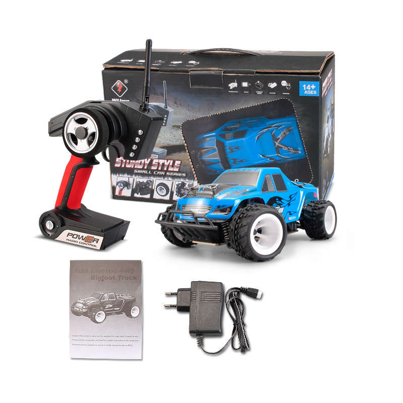 WLtoys P929 1:28 RC car 2.4G PNP RTR 4WD RC monster truck with brushless upgrade Leopard Hobby 1625 motor HobbyWing 30A ESC