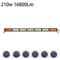 210w 38Inch Dual Color White Yellow Amber Single Row Led Work Light Bar with Fog light for Jeep Truck Pickup with Combo or Spot
