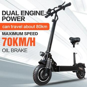 Janobike drive52V 2000 W com assento scooter Elétrico duplo 10 polegada estrada pneu dobrável motocicleta elétrica pedal adultfree entrega