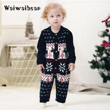 New Warm Knitted Baby Rompers Long-sleeve  Cartoon Rompers Newborn Baby Romper Jumpsuit  Kids  Clothes for Girls and Boys christmas reindeer knitted newborn baby boys girls romper jumpsuit winter kids costume long sleeve pajamas overalls for children