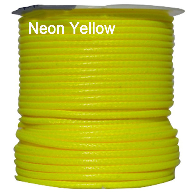 1mm Neon Yellow Korea Polyester Waxed Wax Cord Rope Thread Jewelry Findings Accessories Bracelet Necklace String 200yards Roll