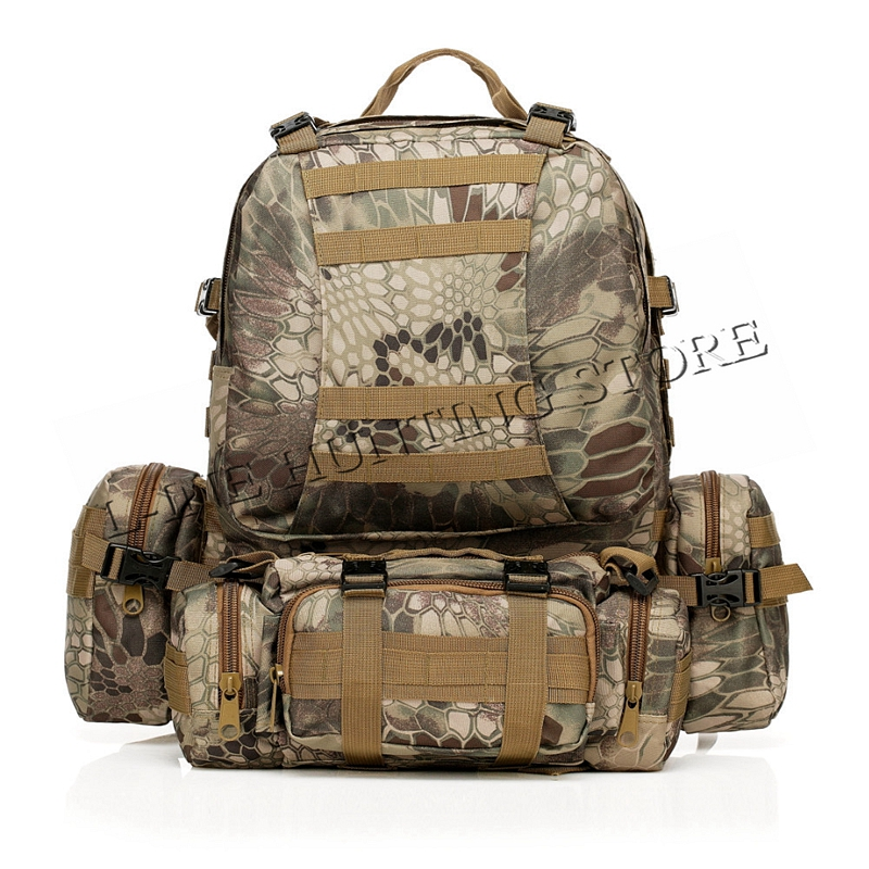 50L Molle Tactical Outdoor Assault Military Rucksacks Backpack Camping Hiking Traveling Gear Bag New ACU CP KRYPTEK AU FG high quality molle 3d waterproof nylon assault army military tactical rucksacks outdoor backpack travel camping hiking bags 50l