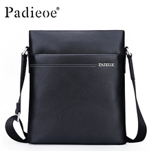Padieoe Brand Men Bag Genuine Leather One Shoulder Crossbody Men Shoulder Messenger Bags