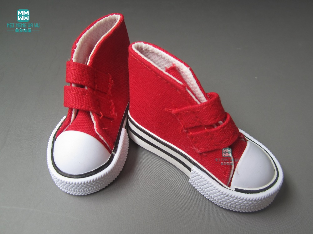 Aksesoris Boneka Mini Sepatu grosir ulticolor 7.5cm Sepatu Kanvas - Boneka dan mainan lunak - Foto 6