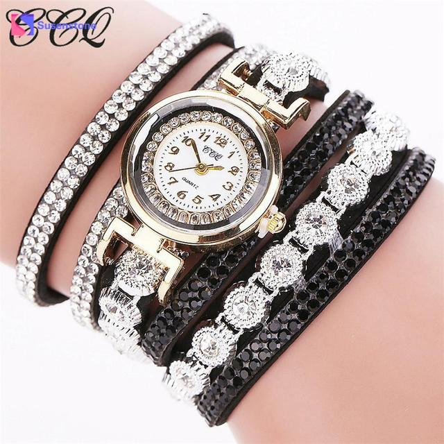 Fashion Brand Top Quality Reloj CCQ Women Fashion Casual AnalogQuartz Women Rhin