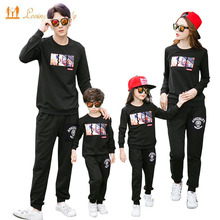 Family Clothing New 2017 Autumn Mother Daughter Father Boy Clothes set Family Matching Outfits Cotton Shirt Pants Family Look