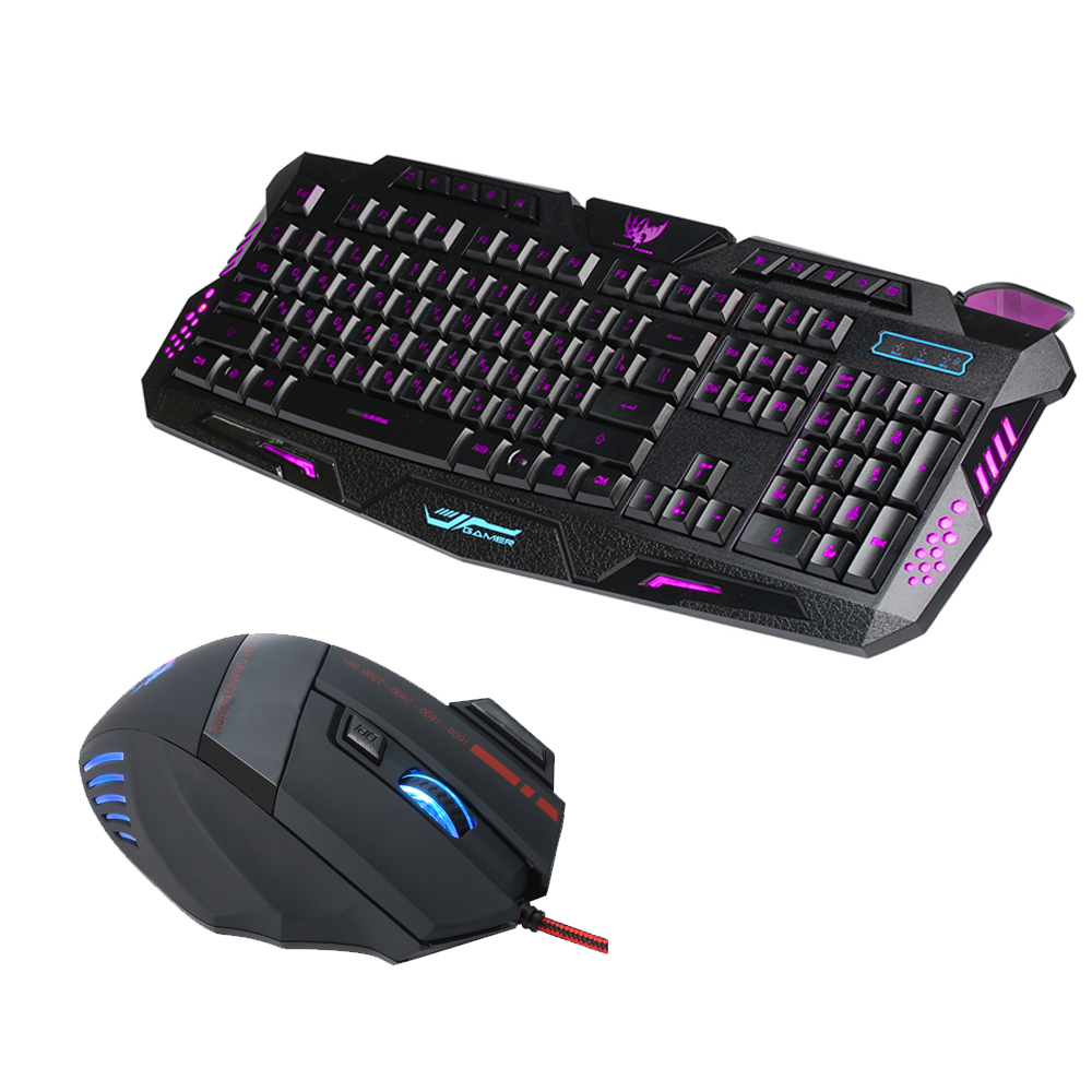 j20 gaming keyboard mouse combo usb wired keyboard 114 key gaming mouse mice adjustable 3200dpi. Black Bedroom Furniture Sets. Home Design Ideas