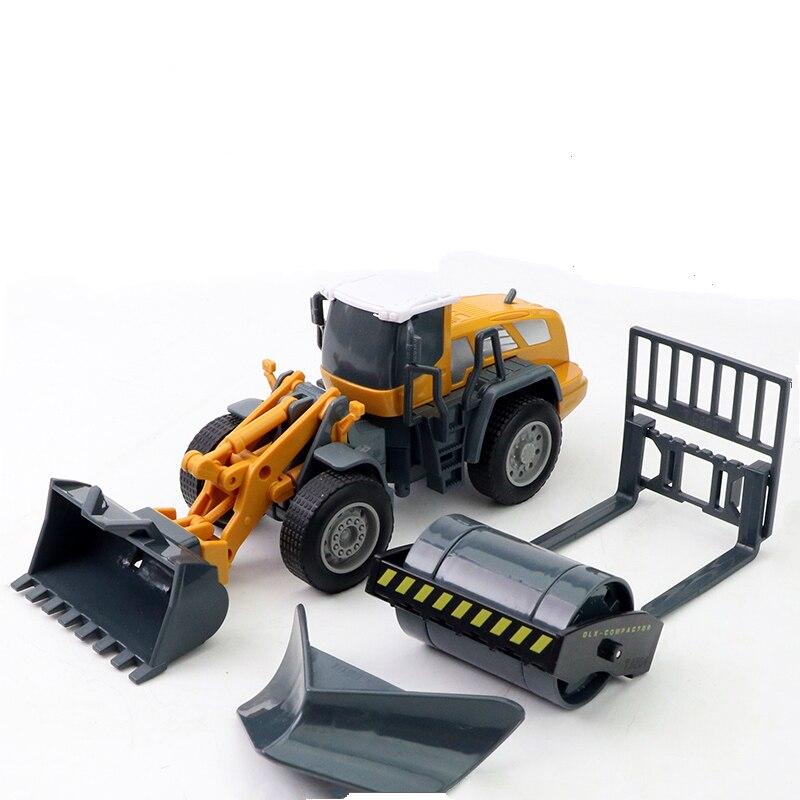 1 Set Plastic Engineering Excavator Forklift Burrow Truck Dump Truck Crane Charging Crane Road Roller Kid's Toys Jsuny